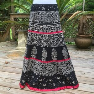 Bohemian Choices Maxi  A Line Skirt XL